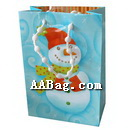 Christmas Paper Bag with snowman design